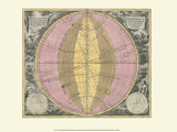 Celestial Map Poster by Andreas Cellarius
