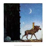 The Moose and the Princess Plakat af John Bauer
