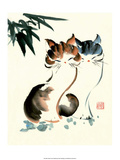 Chinese Pair of Cats Poster