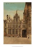 Vintage Postcard, Le Justice de Paix, Bruges Prints