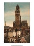Vintage Postcard, Cathedral St. Sauveur, Bruges Poster
