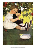 Hugging the Cat Poster by Jessie Willcox Smith