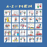 A - Z of Men Prints by Nicola Streeten