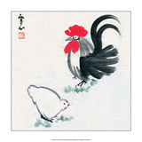 Rooster and Chicken Print