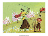 Vintage Golf Poster, Woman Golfer Posters