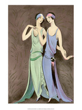 Art Deco Fashion, The Girlfriends, 1922 Poster by Anni Offterdinger