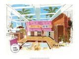 Mid Century Modern Kitchen, Florida Poster