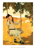 Girl on a Swing Art by Jessie Willcox Smith