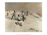 Playing on the Seashore, 1888 Print by Bruno Liljefors