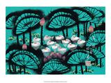Chinese Folk Art - White Ducks in Lily Pond Art