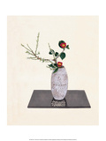 Ikebana, Chinese Peach & Red Camilla's Prints by Koun Ohara