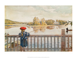 Lisbeth Fishing Print by Carl Larsson