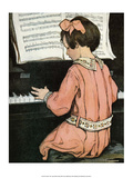 Piano Practice Prints by Jessie Willcox Smith