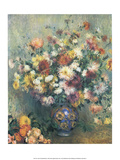 Vase of Chrysanthemums, 1880 Prints by Pierre-Auguste Renoir