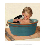 Sharing a Bath Posters by Jessie Willcox Smith