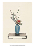 Ikebana, Arrangement of Plum & Variegated Cabbage Prints by Josiah Conder