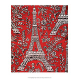 Mid-Century Modern Wallpaper, Eiffel Tower, Paris Prints