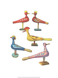 Wooden Birds - Folk Toys Prints by Emanuel Hercik