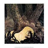 Troll's Fire under the Great Tree Prints by John Bauer