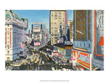 Vintage New York Postcard - Times Square Posters