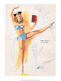 Retro Pin Up, Ballet Dancer Print by Freeman Elliott