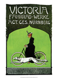 Vintage Bicycle Poster, Victoria Posters