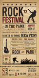 Rock Festival Giclee Print by  The Vintage Collection