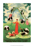 Chinese Happy New Year Panda's Poster Prints