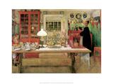 For a Little Card Party, 1901 Affiches par Carl Larsson