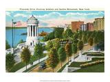 Vintage New York Postcard -Riverside Drive Print