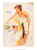 Retro Pin Up, Wearing Nothing but a Towel Posters by Freeman Elliott