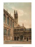 Vintage Postcard, Chapelle du Saint Sang, Bruges Print