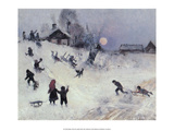 Sledging, 1882 Plakaty autor Bruno Liljefors