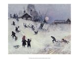 Bruno Liljefors - Sledging, 1882 - Poster