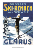 Retro Skiing Poster Posters
