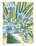 Vase of Flowers Giclee Print by Zoe Badger