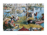 Crayfishing, 1897 Prints by Carl Larsson