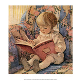 Reading the Animal Book Posters by Jessie Willcox Smith