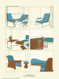 Art Deco French Interior Design Illustrations Prints