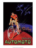Vintage Bicycle Poster, Automoto Posters