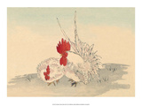 Japanese Chicken and Rooster Posters by Haruna Kinzan
