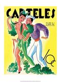 Carteles, Retro Cuban Magazine, Dancing Senorita Posters