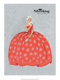 Vintage Art Deco Label, Silver King Face Powder Plakater