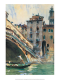 August, The Rialto, Venice, 1907 Print by John Singer Sargent