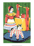 Vintage Russian Matchbox Label, Folk Toys Prints