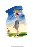 Vintage Golf Poster, Woman Golfer Prints