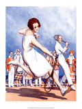 Retro Tennis Poster, Woman Player, 1920s Poster