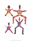 Wooden Jumping Jacks - Folk Toys Print by Emanuel Hercik