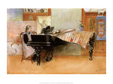 Playing the Piano Poster von Carl Larsson