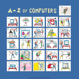A - Z of Computers Posters by Nicola Streeten